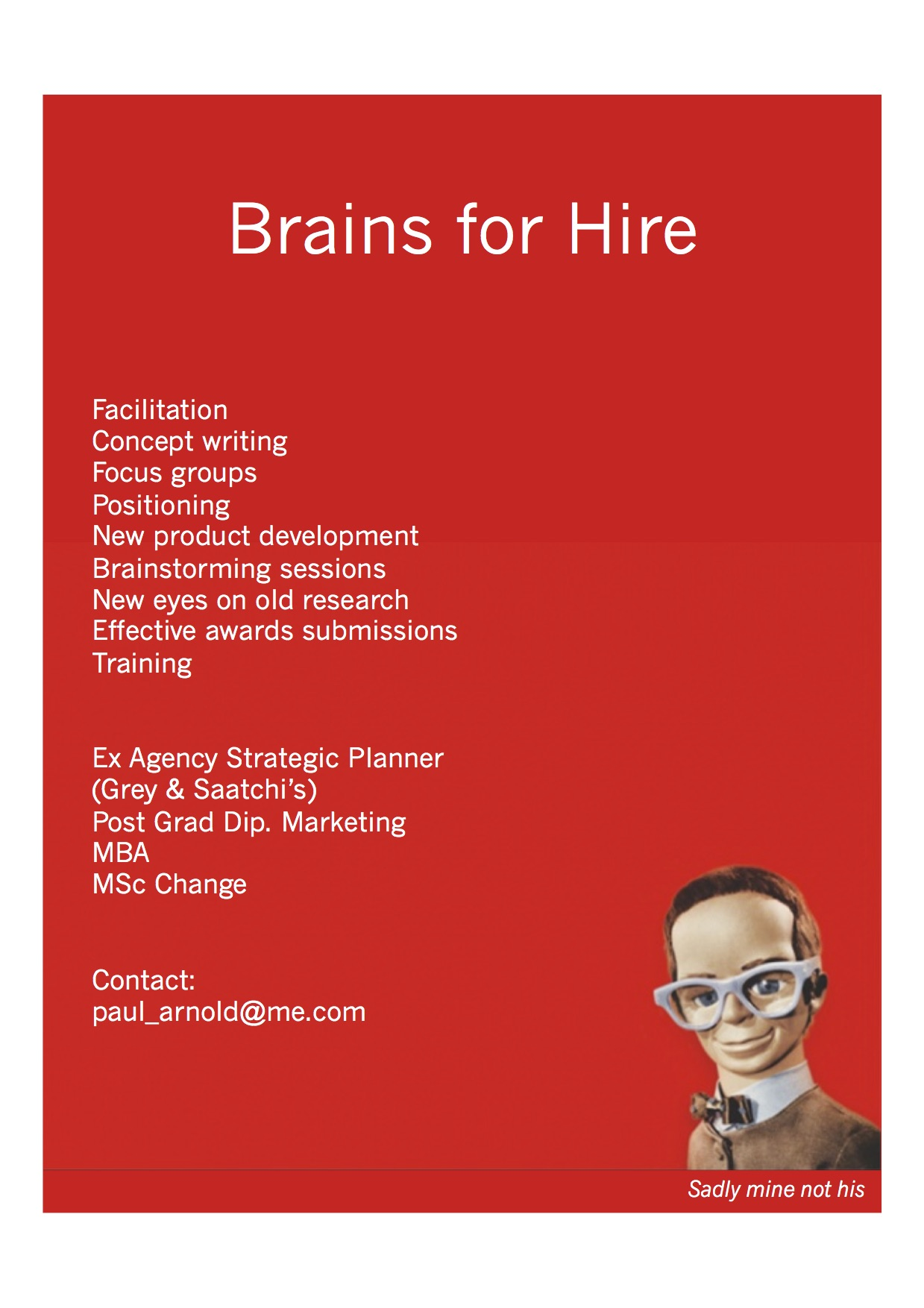 Brain for hire copy